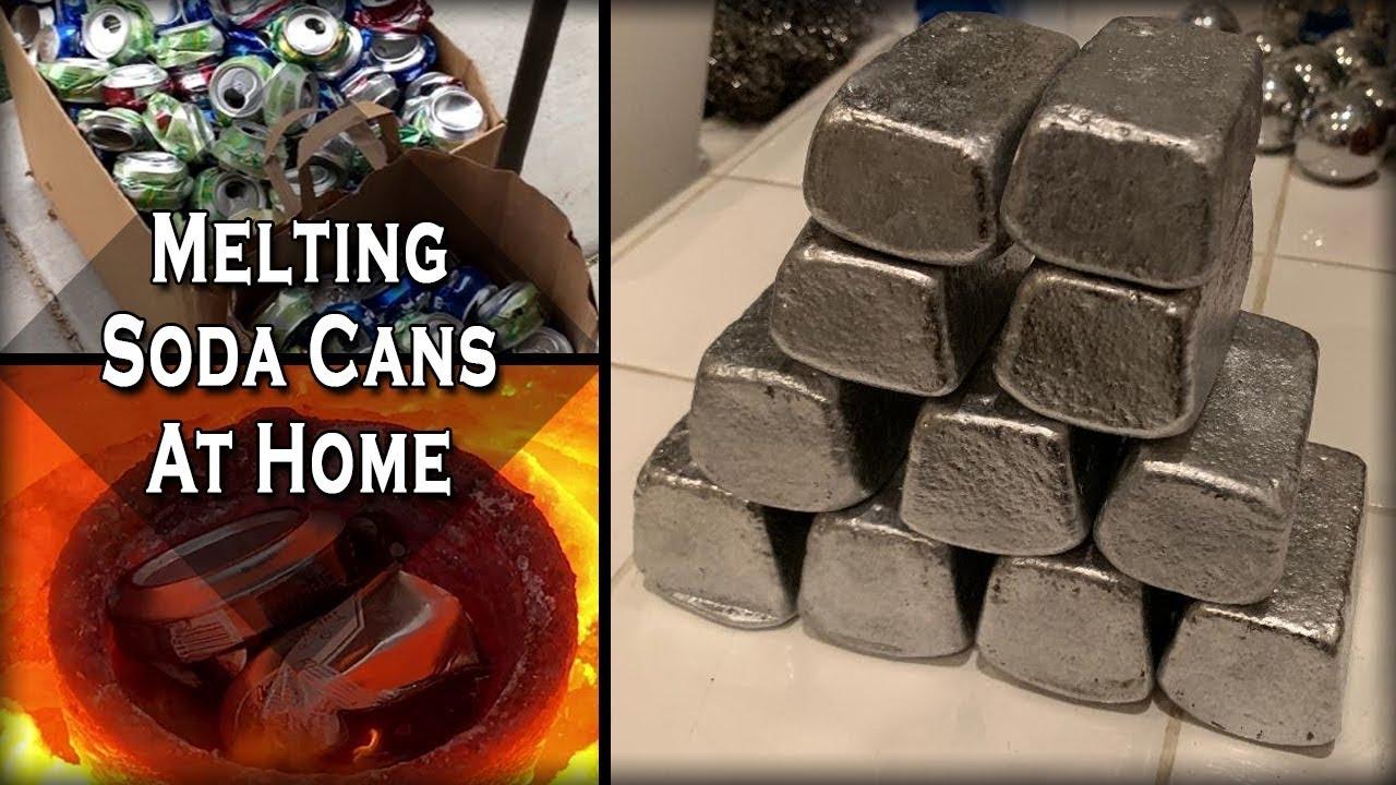 Претопяване на алуминиеви кенчета в домашни условия