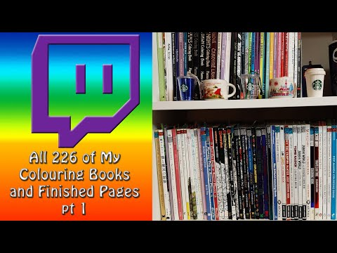 ALL 226 Colouring Books And Finished Pages 1/2020 (pt1)