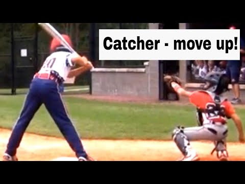 Avoid Catcher Injuries AND Have Them Close Enough To The Batter.