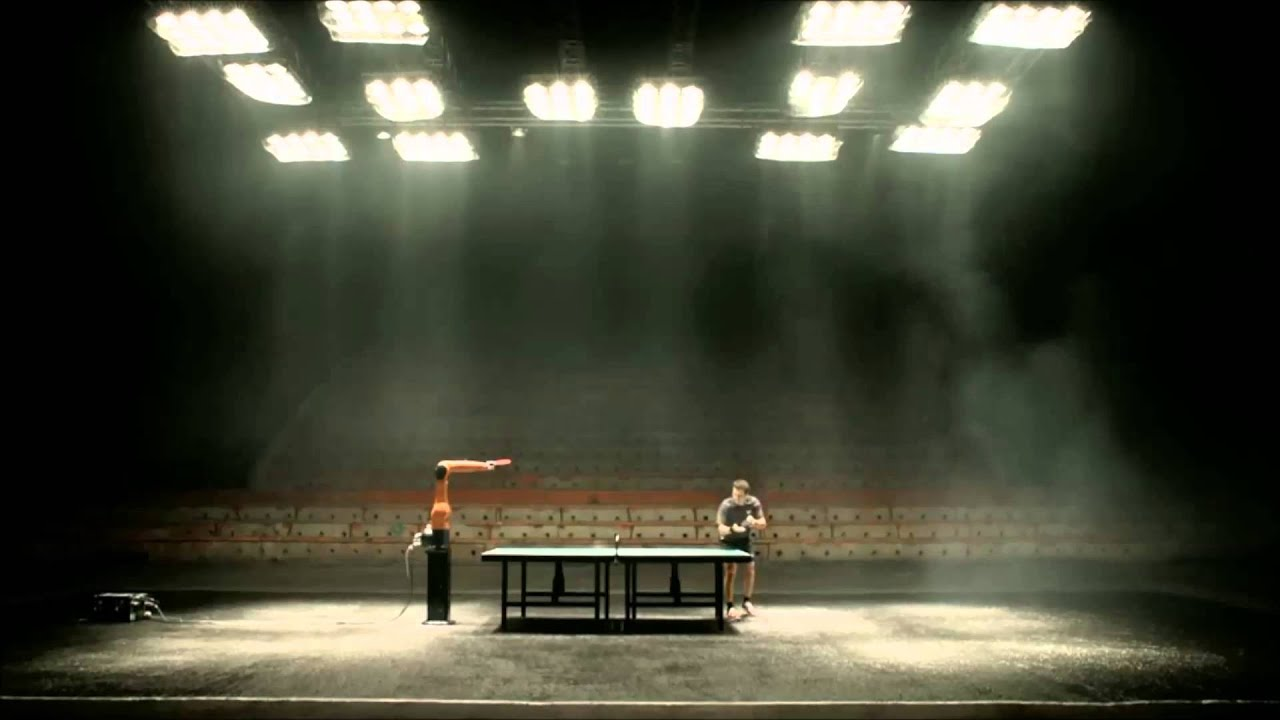 Table Tennis Man Versus Robot Commercial YouTube