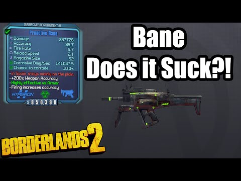Borderlands 2: The Bane - Does it Suck?! - YouTube