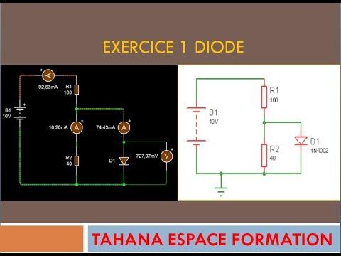 EXERCICE 1 DIODE - YouTube