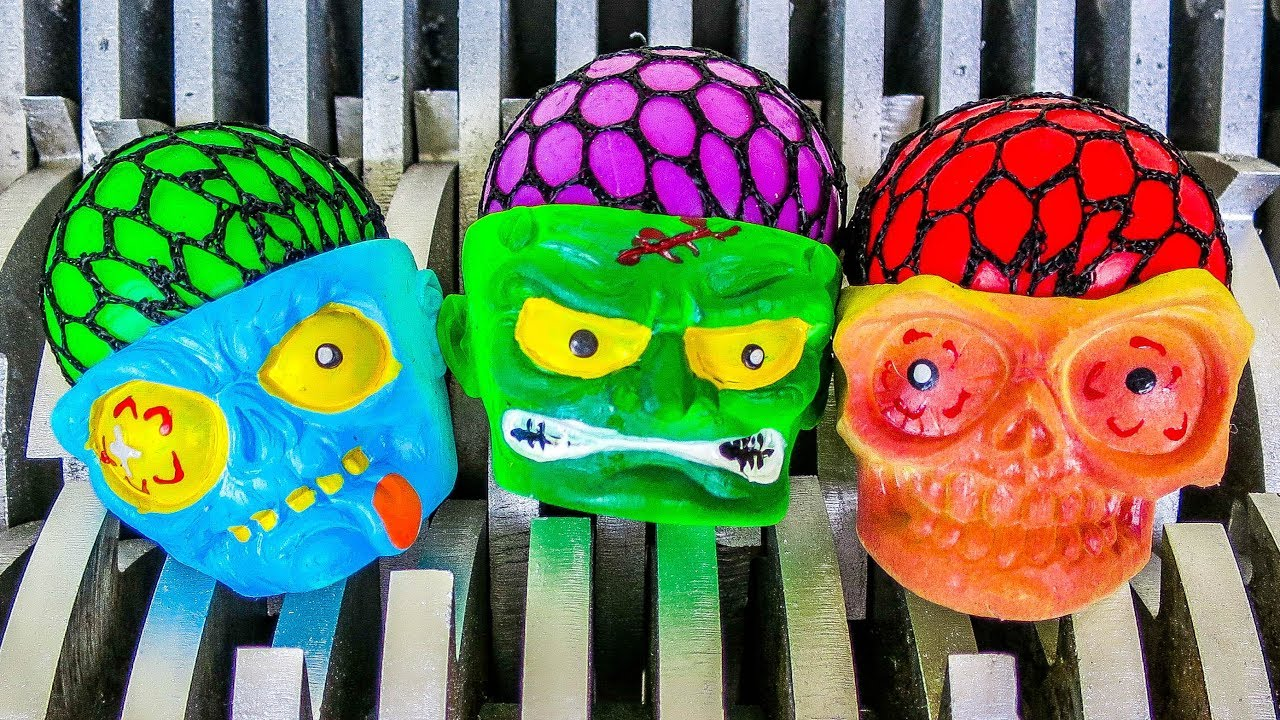 Squishy Skulls Shredded Popping Squishy Skeleton Skulls Toys Whats Inside Scary Slime Skull Toys
