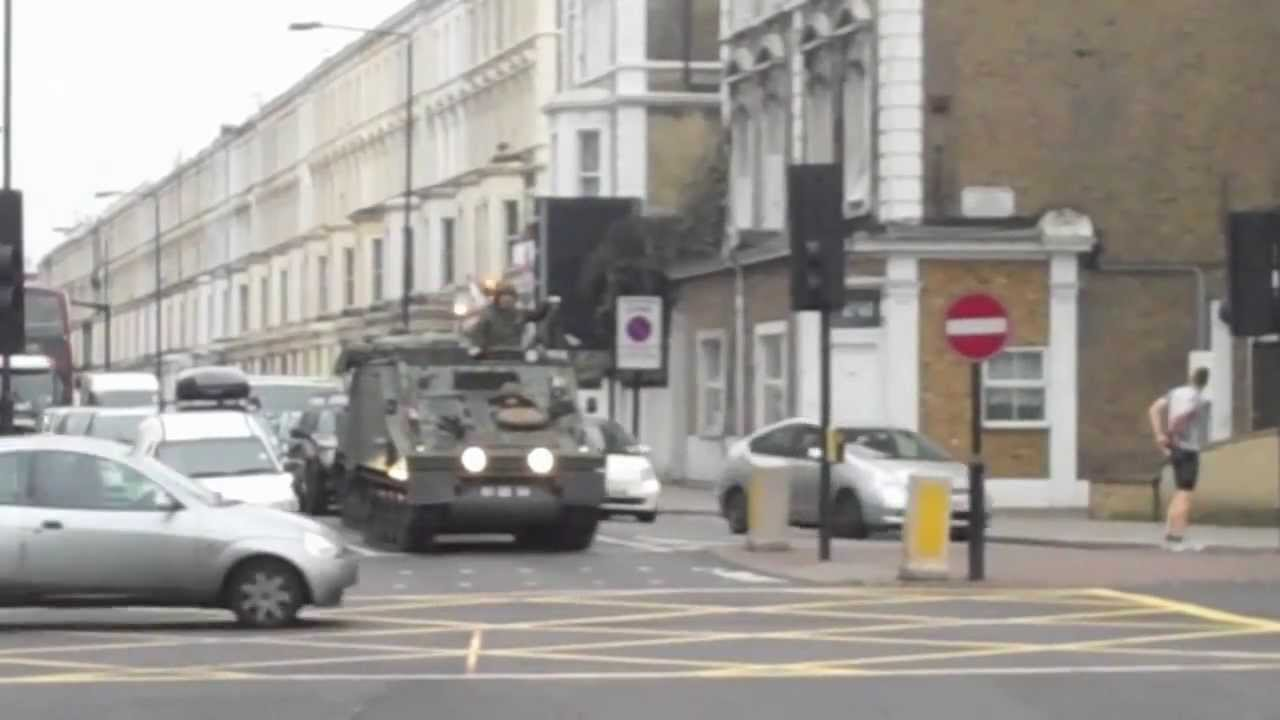 Army Tanks Drive Through Central London