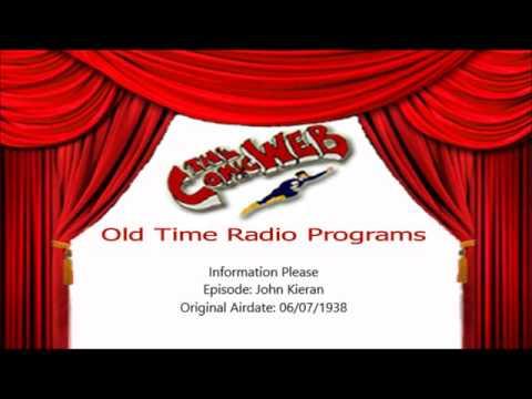 Information Please: Guest John Kieran -– ComicWeb Old Time Radio