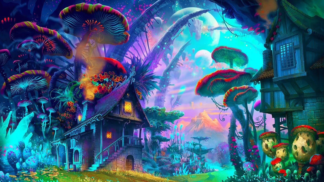 Anime Girl Umbrella City Sky Pink Wallpaper Best Of Psytrance 2016 Dark Full On Forest Mixed By