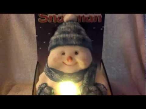 10 Inch Blue Hat Dancing Singing Snowman