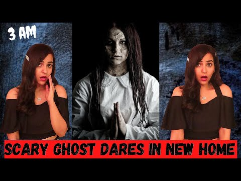 Scary Ghost DARES in our NEW HOME 😱 (SPOOKY)