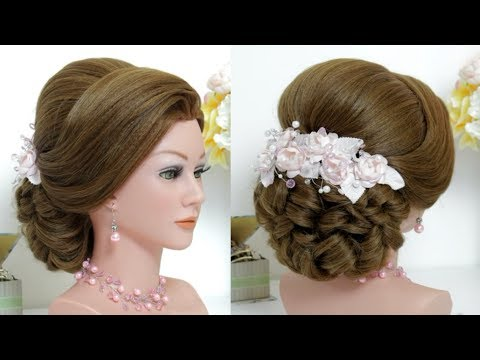 Wedding Updo Long Hair Tutorial 2020