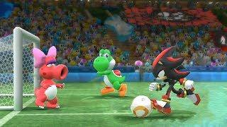 Mario & Sonic Rio 2016 Olympic Games Football Team Shadow, Silver, Sonic, Knuckles   JinnaGaming