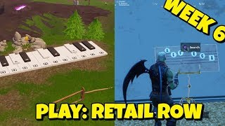 PLAY THE SHEET MUSIC AT RETAIL ROW IN FORTNITE - OFFICIAL