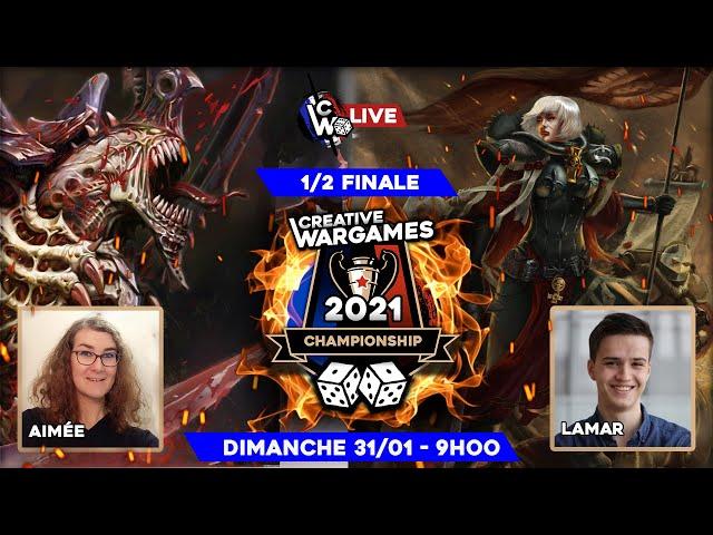 Creative Wargames Championship 2021 - Tyranides VS Sororitas - Warhammer 40.000