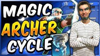 INSANE! MAGIC ARCHER GRAVEYARD CYCLE DECK! — Clash Royale