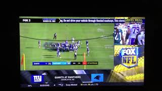 NFL on FOX Today Game Break Update: Giants @ Panthers on FOX (2)