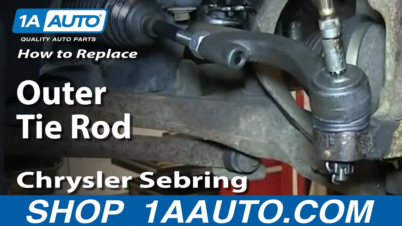 pt cruiser front suspension diagram emergency exit template how to install remove replace outer tie rod 2001-05 chrysler sebring sedan - youtube
