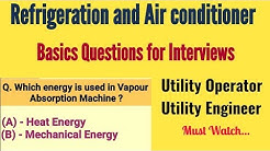 Refrigeration and Air conditioner Questions for Interview
