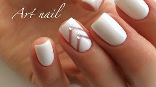 Маникюр в Белом Цвете! Дизайн Ногтей Гель-Лаком! Nail Art Designs