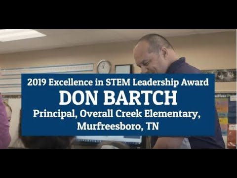 2019 Excellence in STEM Leadership Award - Don Bartch, Overall Creek Elementary School