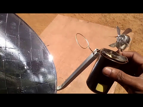 MINI SOLAR POWER PLANT Concentrating solar Parabolic Reflector DIY