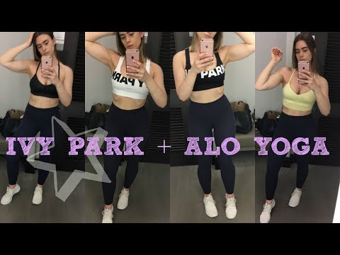 4932e995a0ac0 IVY PARK + ALO YOGA SPORTS BRAS TRY ON INSIDE THE DRESSING ROOM   JANICE  EADIE - YouTube