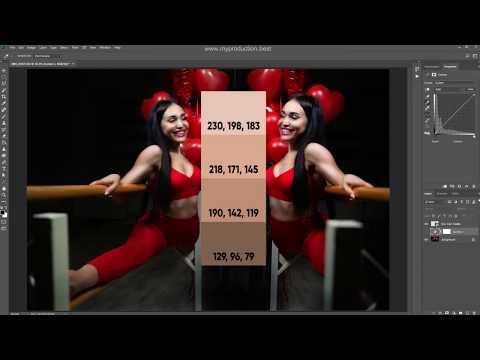 Урок Тонирование фотографии. Ретушь кожи в Photoshop. Цветокоррекция женского спортивного портрета.