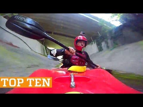 TOP TEN: Kayaking, Skimboarding & Trick Shots!   PEOPLE ARE AWESOME 2017