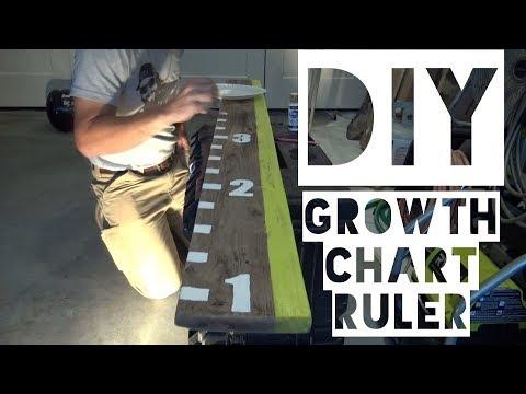 DIY Growth Chart Ruler FOR CHEAP!