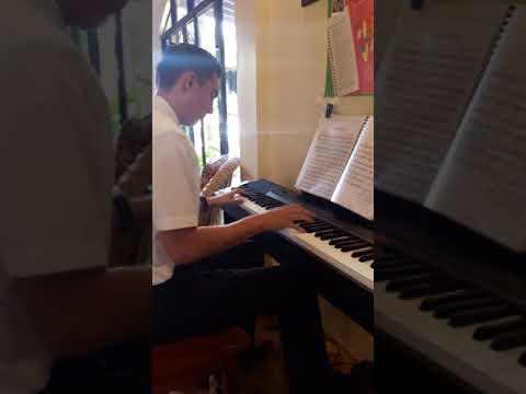 ELDER NEWMAN, pianist at Cabacungan, La Castellana Negros Occidental, Philippines