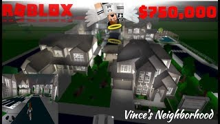 $750k+ NEIGHBORHOOD VINCE | Subscriber Tours (Roblox Bloxburg)