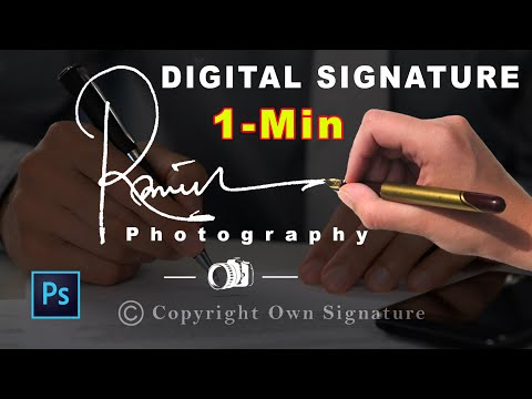 1-Min How To Create Own Handwritten Signature Logo For Photography 2019📷