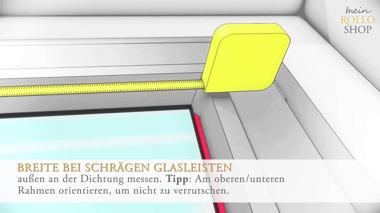 Beliebt Richtig messen bei Plissee-Montage in der Glasleiste - www.mein OZ31