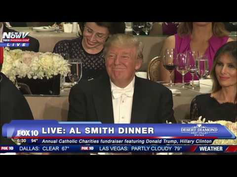 FULL: Hillary Clinton Roasts Donald Trump At 2016 Al Smith Dinner - FNN