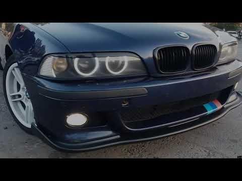 BMW e39 красиво исполнил дрифт на караване/бмв- лучший психолог