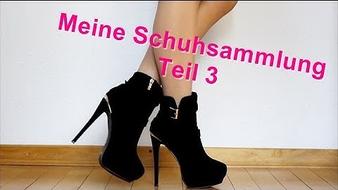 MEINE SCHUHSAMMLUNG TEIL 3/3 || MY HIGH HEEL SHOE COLLECTION PART 3/3