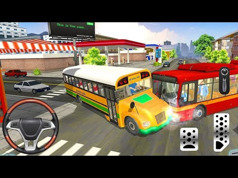 School Bus Transport Driver - Real School Bus Driving - City School Bus Driver Simulator - Android