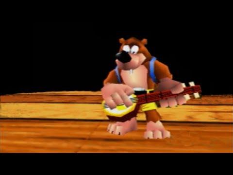 Banjo-Kazooie Intro On DK Rap Stage (Real N64 Capture)