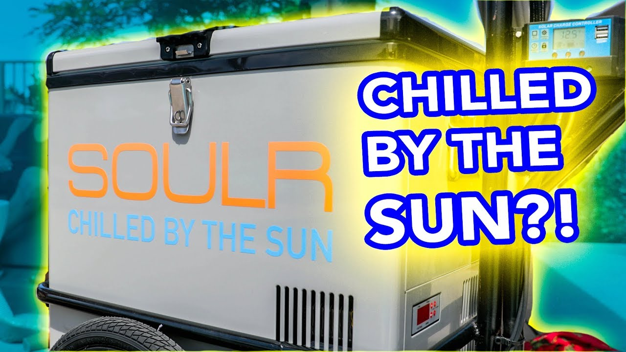 Keep Food Cold Longer Outdoors - Solar Powered Cooler - Soulr Mini Cooler