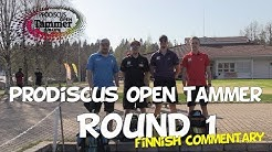 lcgm8 Disc Golf - Prodiscus open Tammer 2019 Round 1 (Finnish commentary)