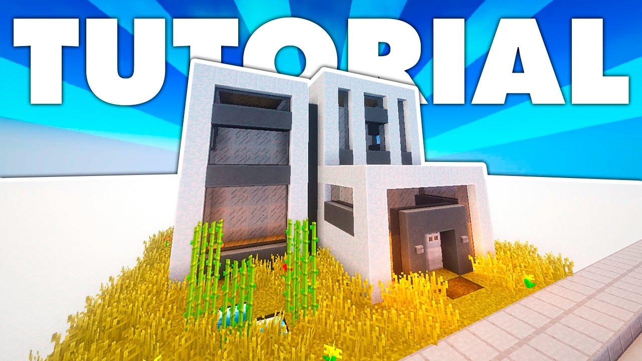 Casa moderna con 2 plantas tutorial minecraft youtube for Casa moderna minecraft easy