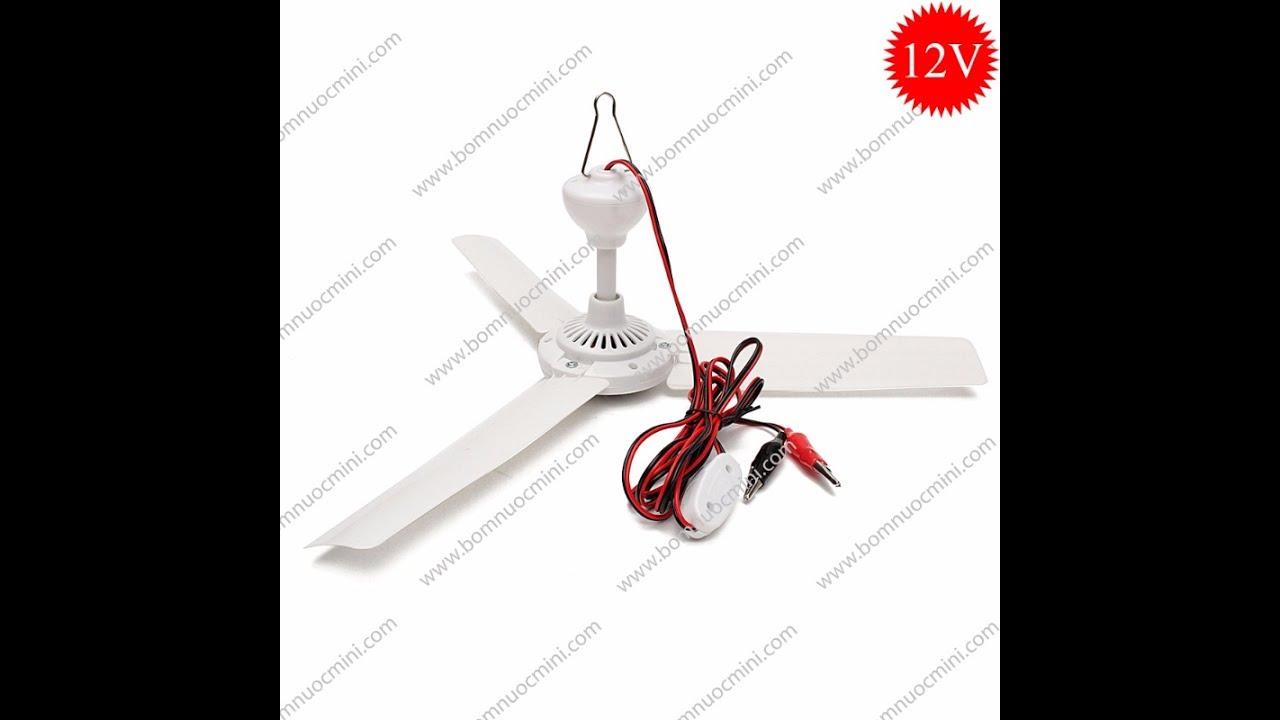 Quạt Trần 12V Brushless Sải Cánh 500mm | ceiling fan 12v brushless 500mm