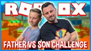 🔴 Father vs Son ROBLOX Game Challenges | Loser Takes the L | Water in the Face and MORE! MUST WATCH