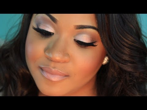 Neutral Wedding Makeup with Pop of Color! - YouTube