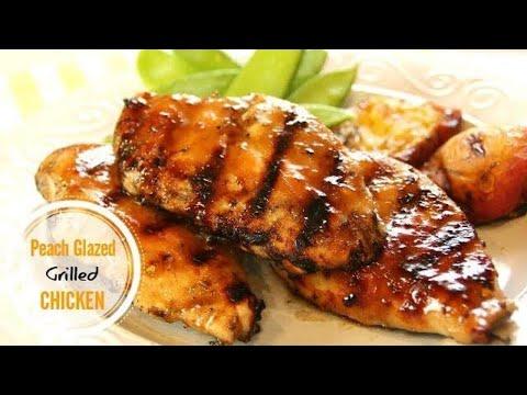 Peach Glazed Chicken Breasts in 30 Minutes