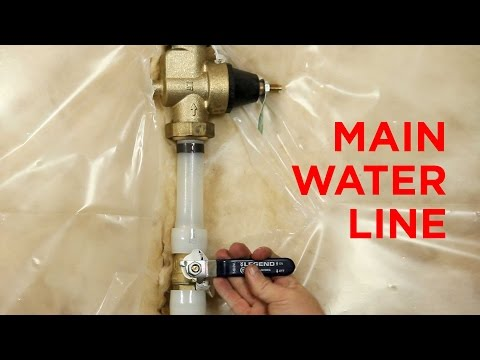 main water line hook up