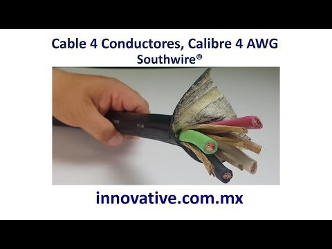 Cable 4 Conductores Calibre 4 AWG Cable Southwire  ®