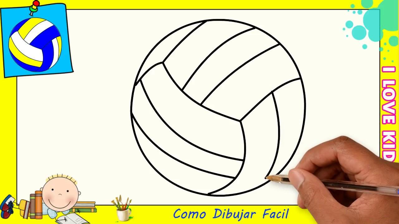 Cómo Dibujar Un Balón De Fútbol Fácil: Como Dibujar Un Balon De Volleyball FACIL Paso A Paso Para