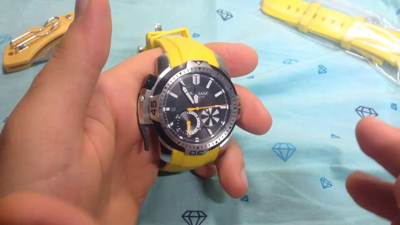 e70e90cb854 Graham Chronofighter Prodive Yellow China replica - Обзор на часы из Китая  Грэм (Aliexpress)