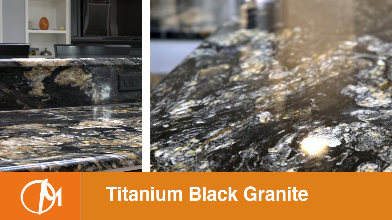 Black Titanium Granite : Titanium black granite kitchen countertops youtube