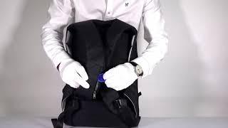 Рюкзак чёрный Антивор, с внешним USB портом