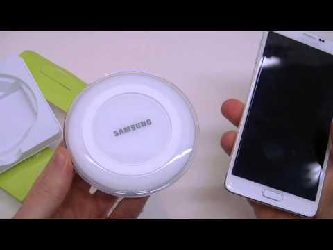 Presentazione caricabatterie Wireless Samsung EP-PG920I per Galaxy S6 e device QI